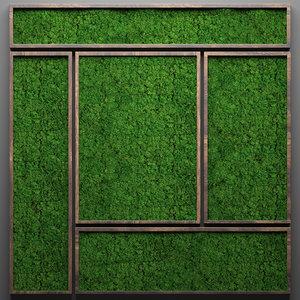3D stabilized moss model
