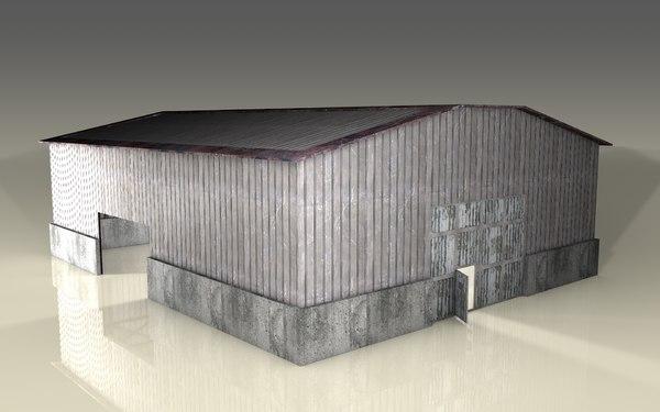 hangar industrial 3D model