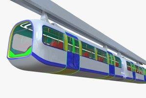 3D monorail train model