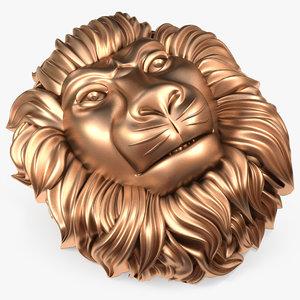 3D lions head cm