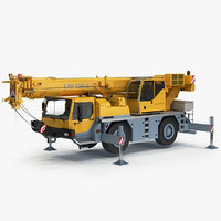 3D liebherr mobile crane ltm model