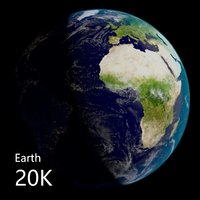3D earth - photoreal 20k model