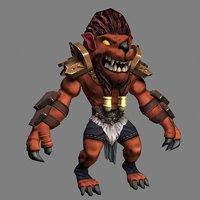 humanoid mutant lion 3D model