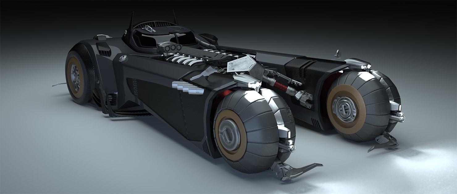 batmobil white knight 3D model