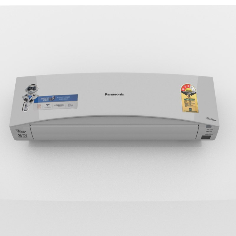 split inverter air conditioner 3D model