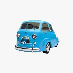 3D model cartoon car