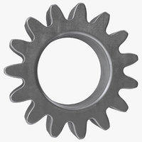 3D spur gear 15 teeth
