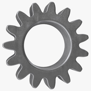 3D spur gear 15 teeth