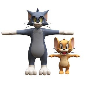 3D tom jerry model