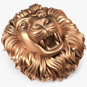 3D lion s head om