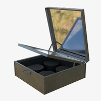3D solar cooker