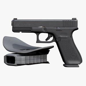 3D model glock 17 gen 5