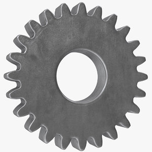 3D spur gear 24 teeth