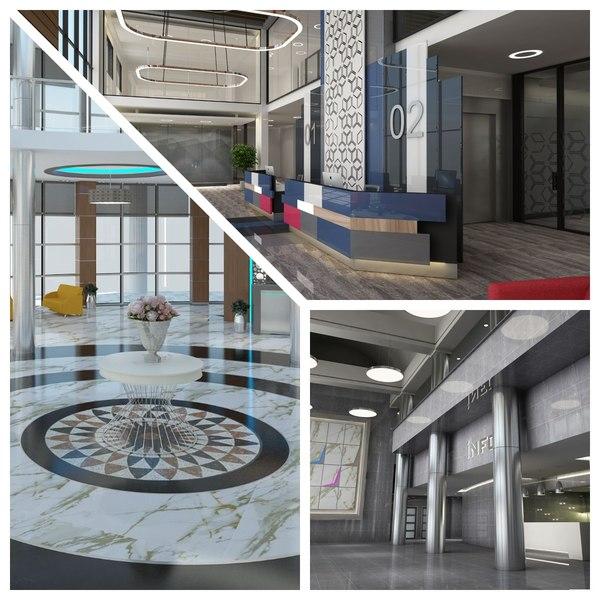 lobby build details 3D model