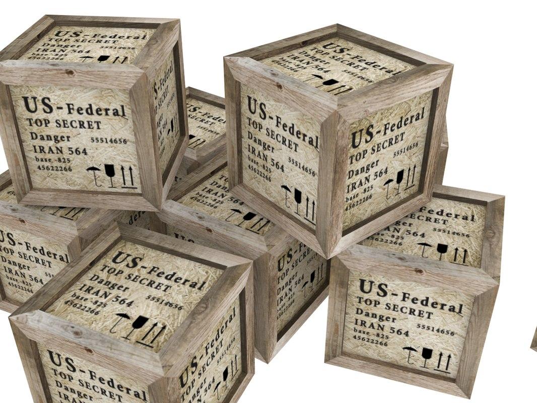 wood boxes model