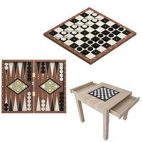 3D board games 3in1 model