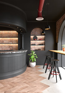 cafe modern classic 3D model