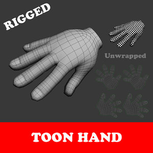 toon hand rigged 3D