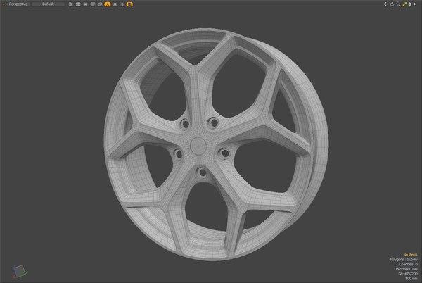 car hubcaps 3D