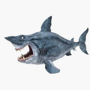 3D model shark cartoon