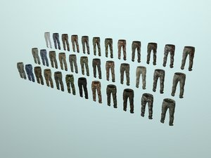 3D pants loose fit camouflaged