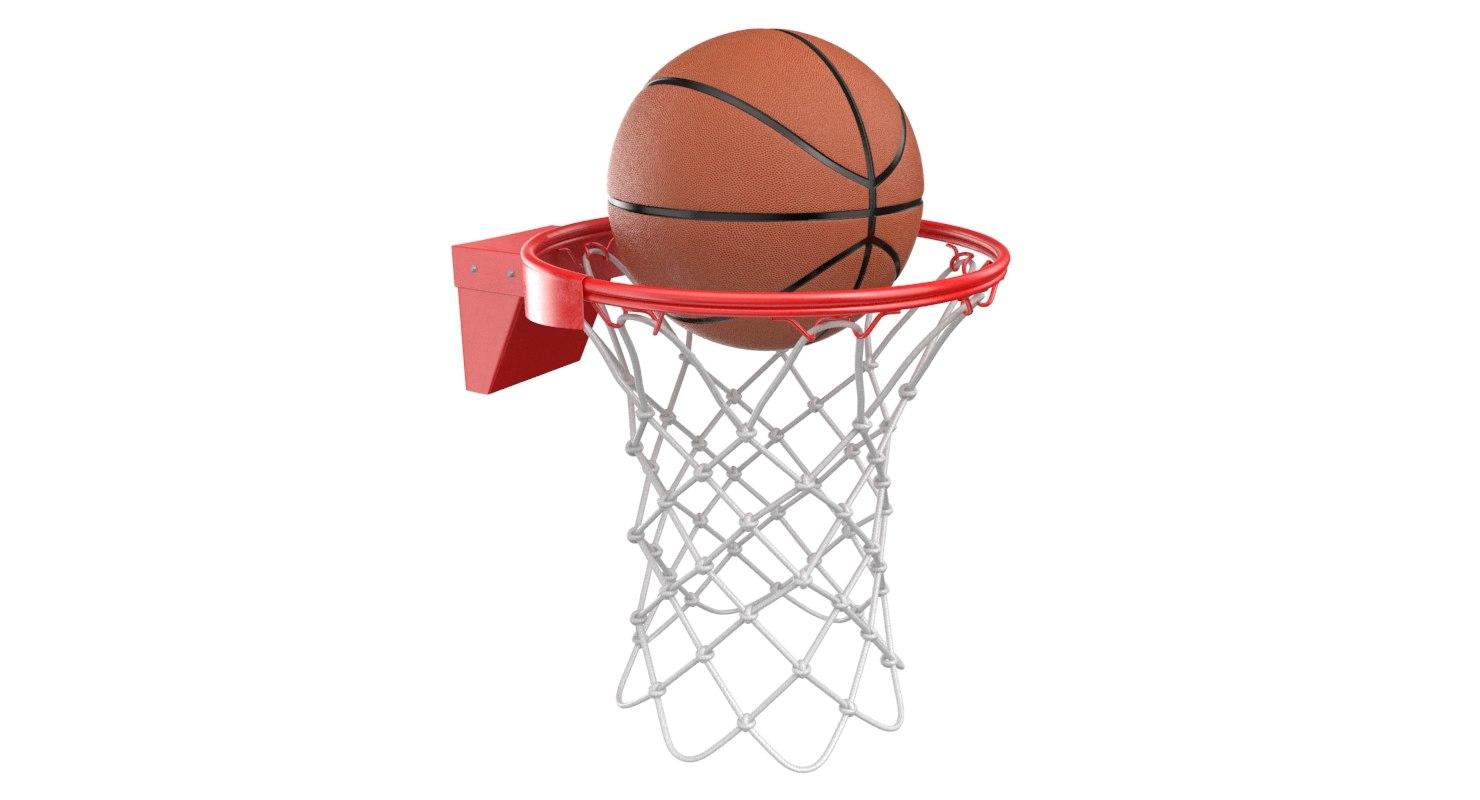basketball rim ball 3D model