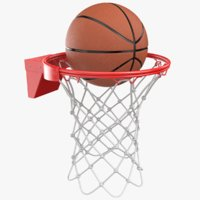 Basketball Rim With Ball