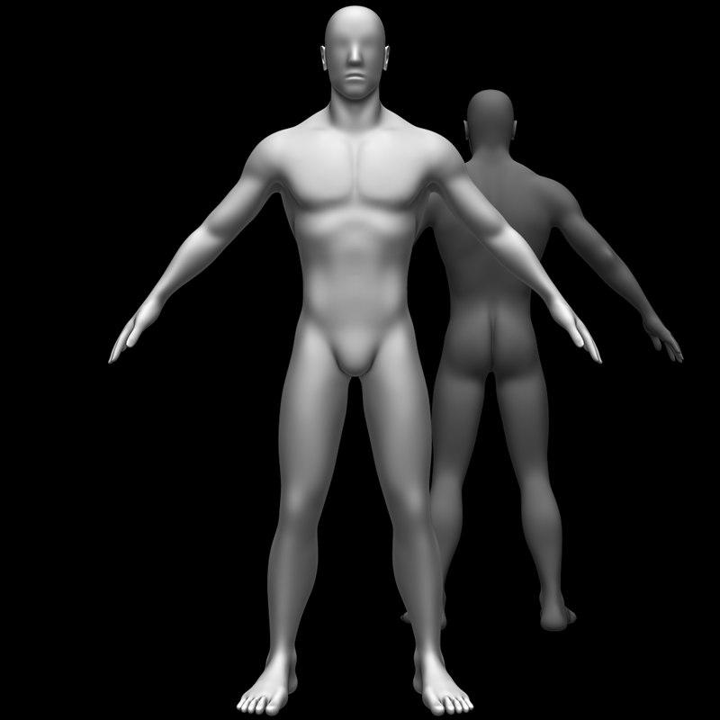 3D male body base