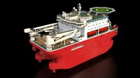 Large ship for oil undustry