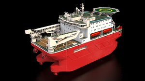 ship offshore accommodation 3D model