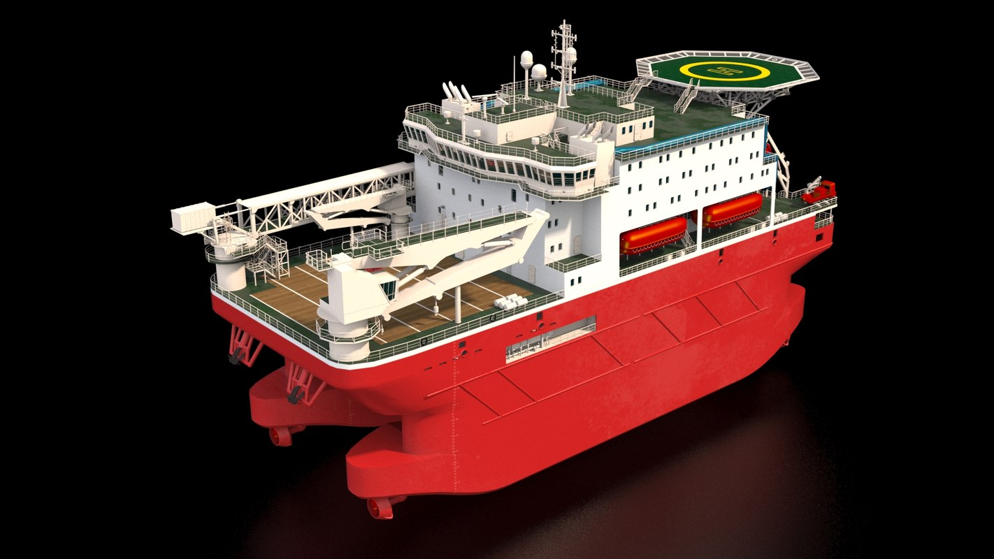ship offshore accommodation 3D model