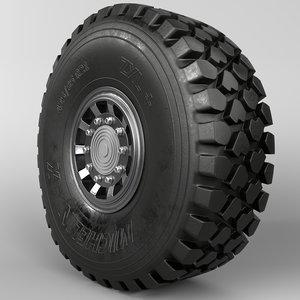michelin x offroad wheel 3D model