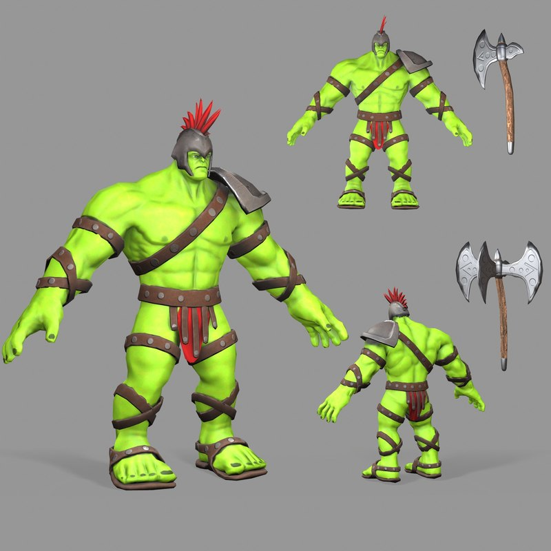 modeled gladiator hulk model