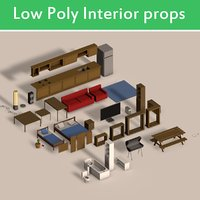 Low Poly Interior Props