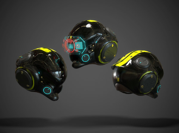 3D model helmet scifi