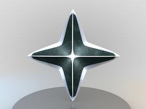 ninja estrellas arma 1 3D
