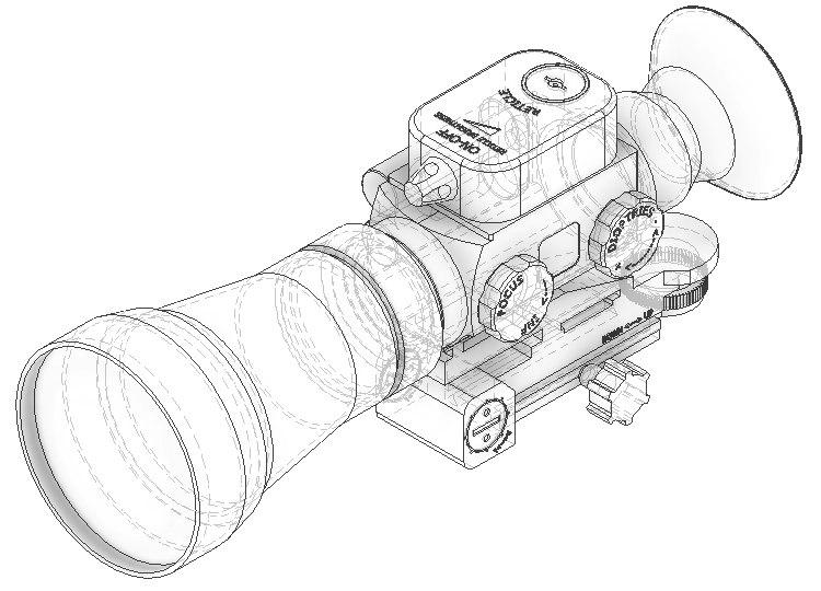 3D night vision sight model