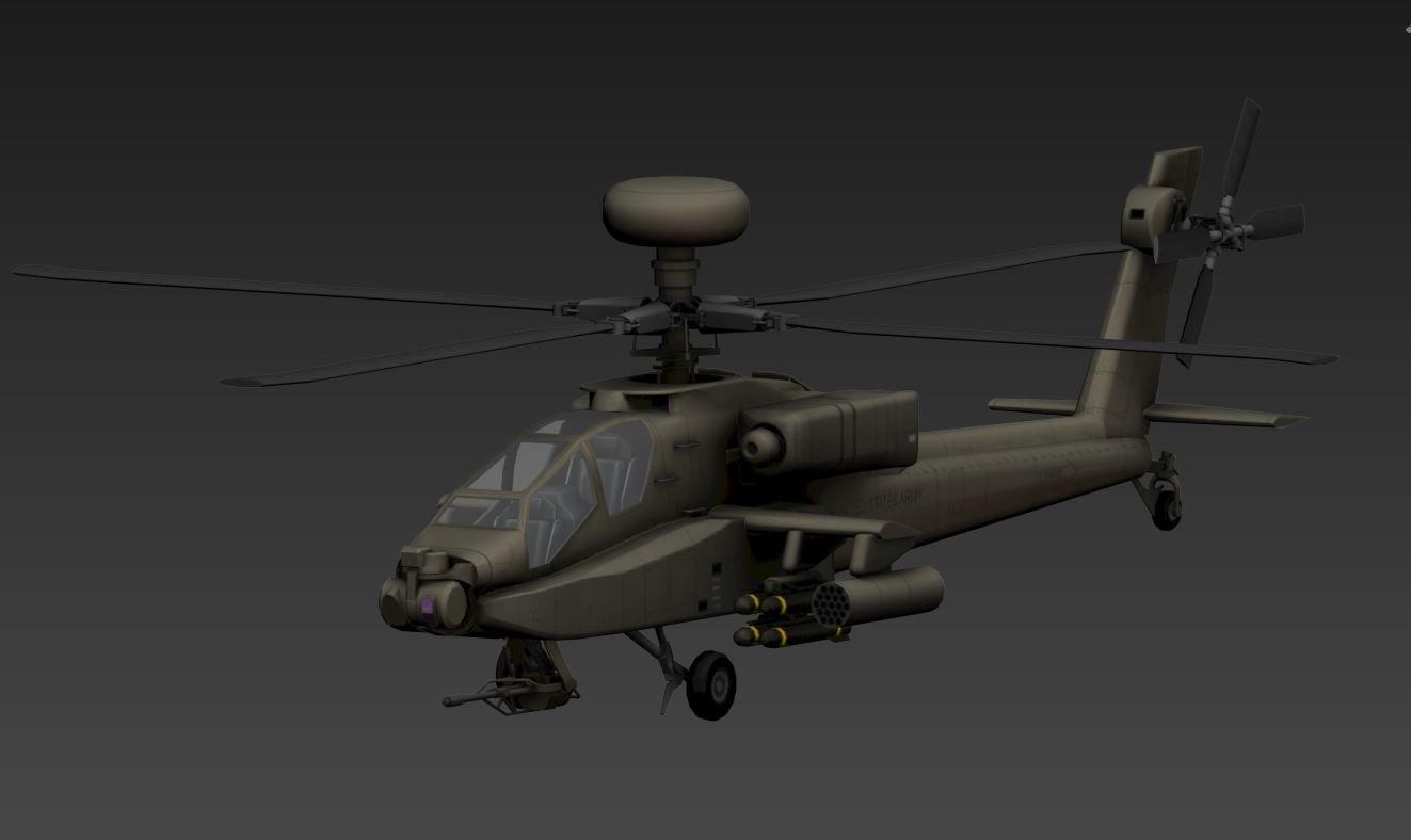 ah-64d apache 3D model