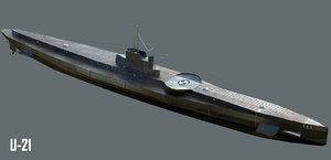 german submarine u-21 3D model
