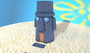 3D model squidward house spongebobs