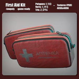 3D aid kit model