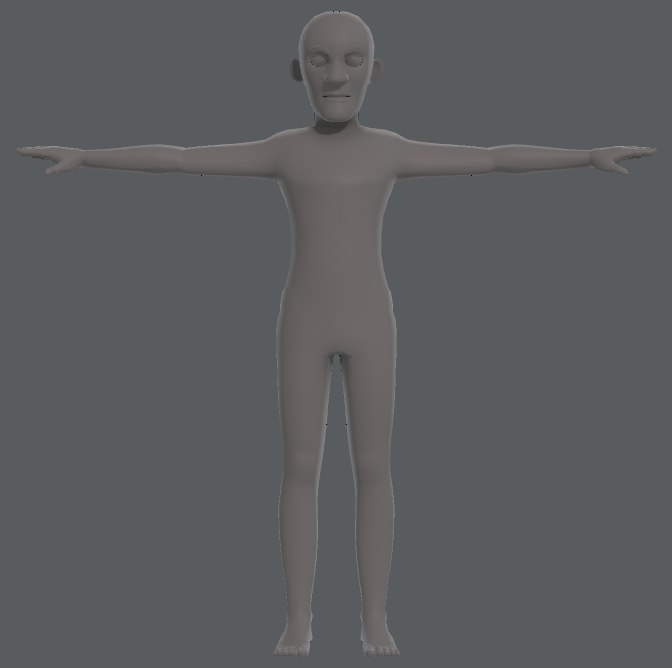 base mesh old man 3D model