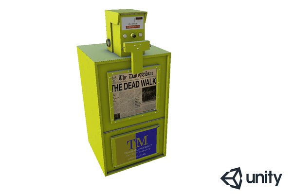 newspaper machine 3D model