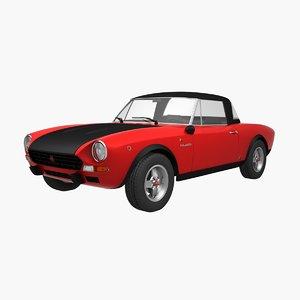 fiat 124 abarth rally 3D model
