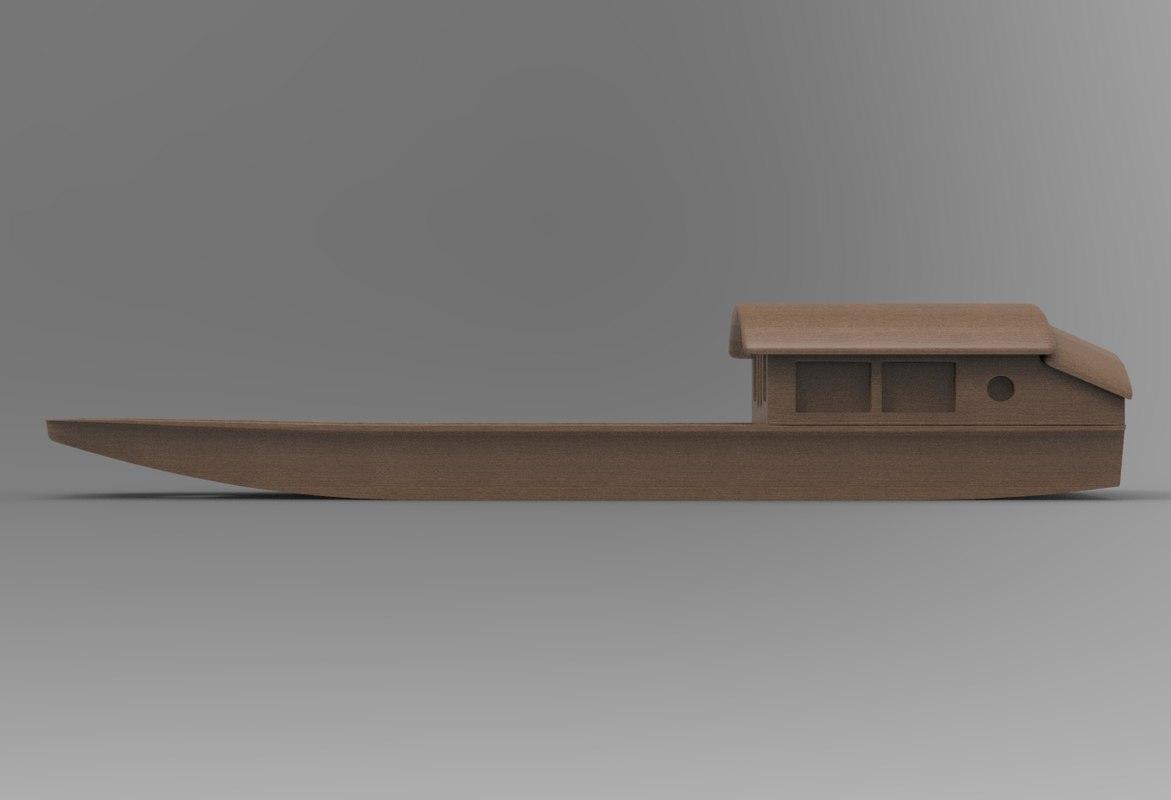 boat trinket 3D model