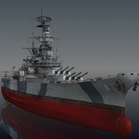 uss iowa bb 3D