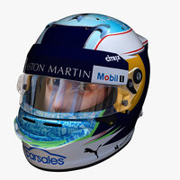 3D ricciardo helmet e