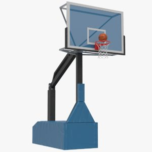3D basketball rim goal ball