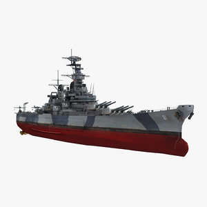 3D uss iowa bb-61 model