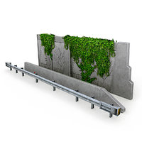 highway barriers 3D model